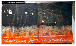"Catherine Scanlon's Negative Photo Journal Page for ""30 Days...."""