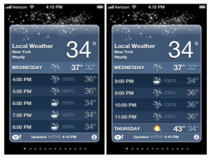 iPhone Weather Snow Prediction ©WendyJournalista