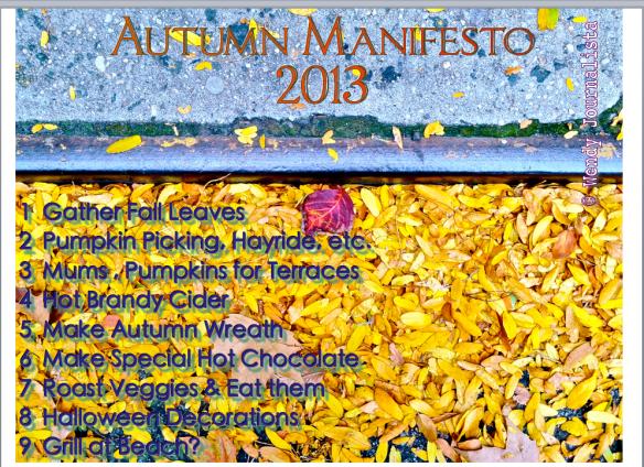 Autumn Manifesto 2013 ©WendyJournalista